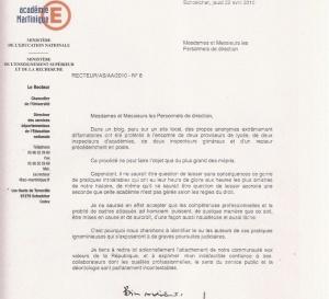 LES OBSERVATIONS D'EDOUARD DELEPINE A PROPOS DE LA LETTRE DU RECTEUR SIGANOS