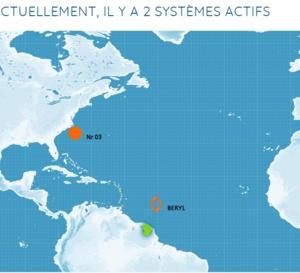 Un ouragan devrait traverser les Antilles dans la nuit de dimanche à lundi .