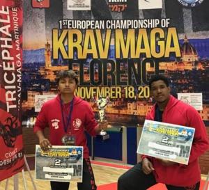 KRAV-MAGA TRICEFAL MARTINIQUE fait de très bons résultats AU CHAMPIONNAT D'EUROPE  en Italie.