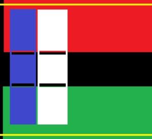 De retour de Paris le drapeau de la Martinique aura du rouge, du vert , du noir , du jaune , du bleu et du blanc !
