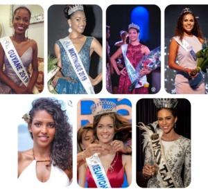 Découvrez les 8 candidates des Outre-Mer en lice pour Miss France 2020.