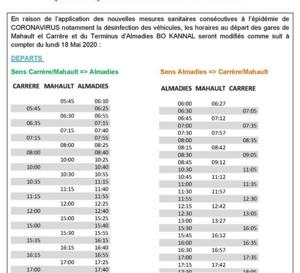 Déconfinement-Martinique- Transport -  Mozaïk les nouveaux horaires à partir du 18 mai !