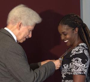 Cérémonie d'investiture du nouvel ambassadeur de bonne volonté de Sainte-Lucie, Mme. Claudia Edward-Ladner.