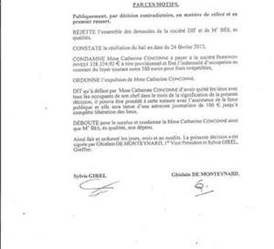 Aujourd'hui  CONCONNE condamnée,  le 28  MARIE Jeanne interrogé ! La justice au travail en Martinique.