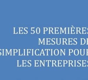 Si vous étes dans le fer infernal de l'entreprise en Martinique, pwen couraj! Les 50 mesures de simplification.