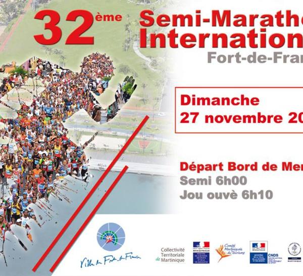 Semi Marathon International Martinique voici la date et l'affiche.