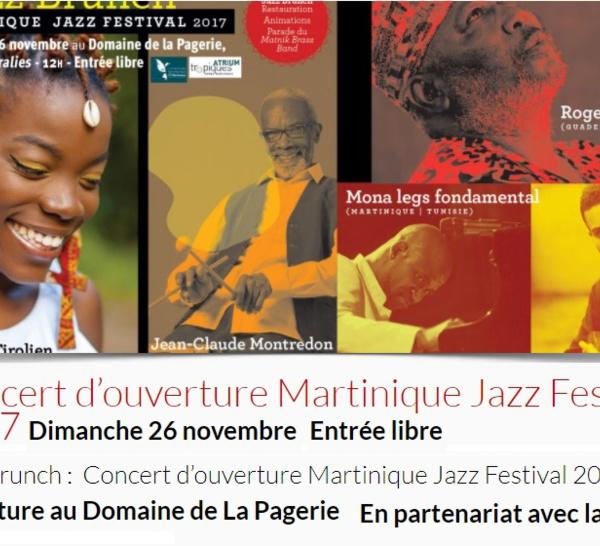 26 Novembre,ouverture du MARTINIQUE JAZZ FESTIVAL, au Domaine de la Pagerie aux Trois-Ilets.