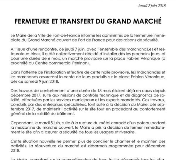 Que se passe-t-il au marché de Fort de France !