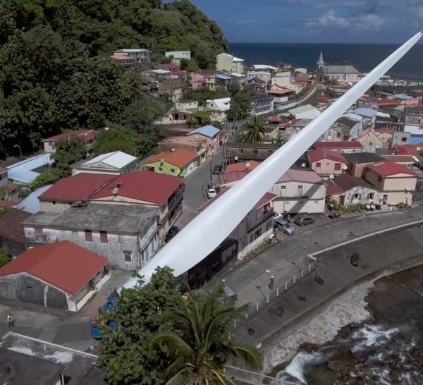 Inauguration du parc éolien de Grand'Rivière,