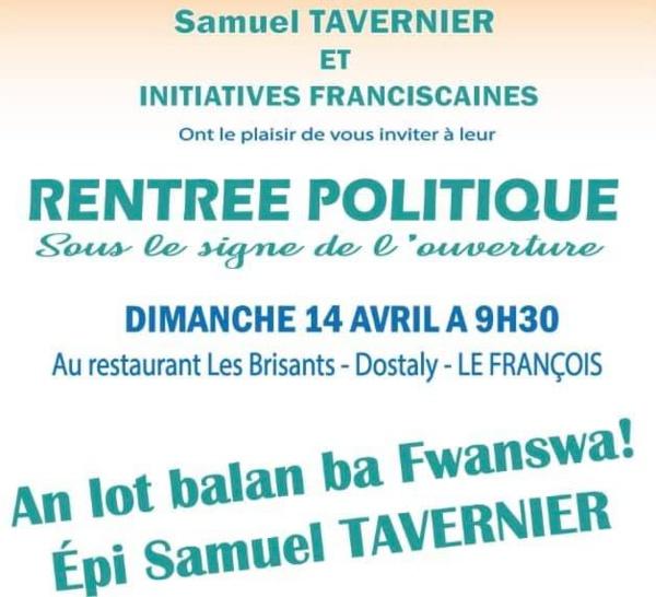 Samuel Tavernier fait sa rentrée politique