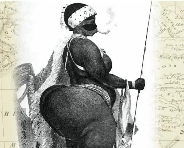 Exposée comme un animal parce qu'elle était noire et avait des formes.