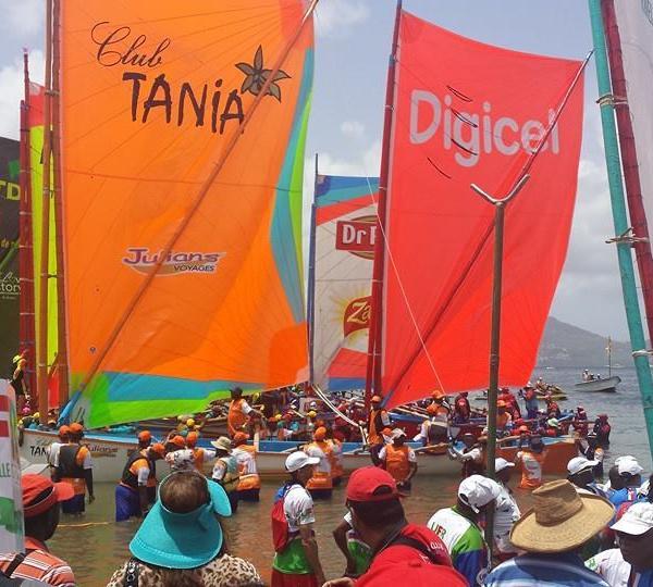 Retour du village santé du tour de la Martinique des yoles rondes ce dimanche 03 aout