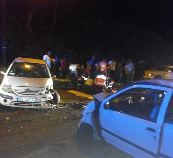 Accident assez grave en ce 1er Janvier sur la route de Sainte-Marie. Soyez prudents au volant.
