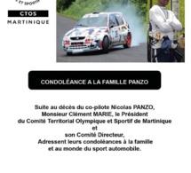 Sincères condoléances à la famille PANZO et au monde du sport automobile.